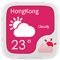 Win8 Pink Go Weather Theme