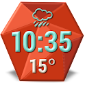Retro Clock Weather Widget icon