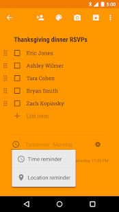 Google Keep – Notes et listes – Vignette de la capture d'écran