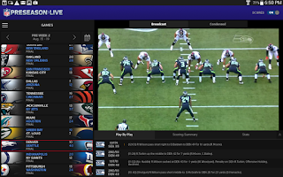 Screenshot of NFL Preseason Live for Tablet