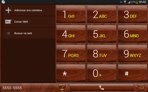 【免費個人化App】exDialer Mahogany Wood Theme-APP點子