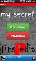 Screenshot of My Secret