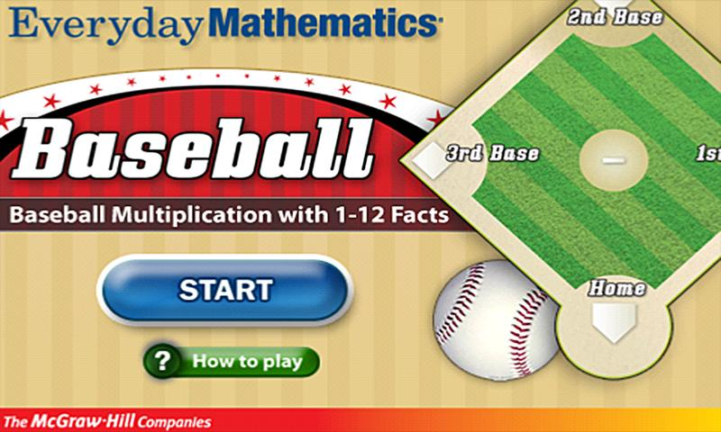 Everyday Math BaseballMult1-12 - screenshot