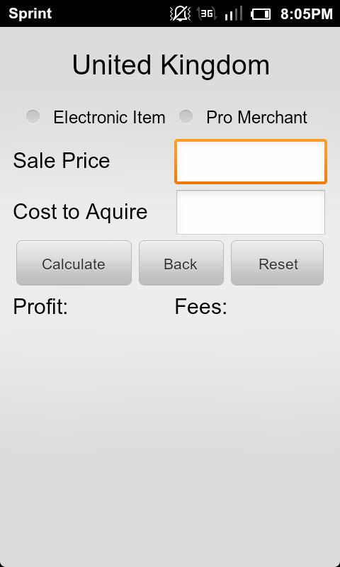 Calculator for Amazon & eBay- screenshot