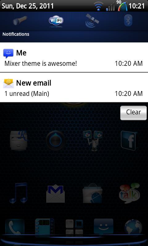 Mixer - CM7 Theme - screenshot