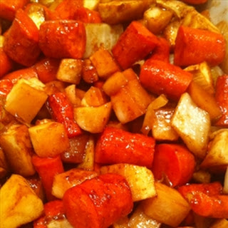 Hoisin-Caramelized Root Vegetables