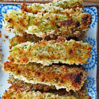 Baked Zucchini Fries with Onion Dipping Sauce.