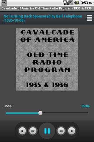 Cavalcade of America OTR V. I