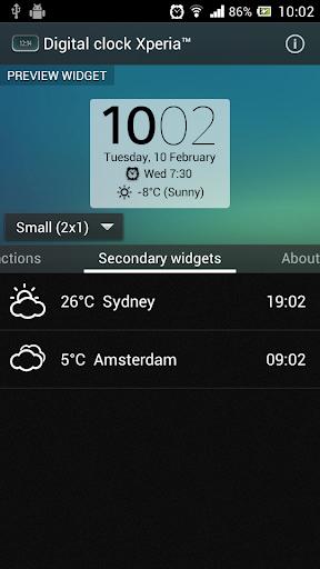 digital clock widget xperia premium apk free download