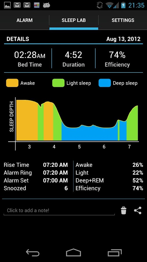 Sleep Time - Alarm Clock - screenshot
