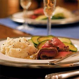 Roast Beef with Horseradish-Mustard Sauce
