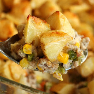 Good-for-You Meat and Potatoes Casserole.