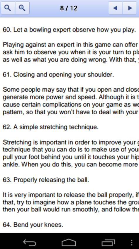 100 Bowling Tips - screenshot
