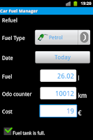 Screenshot of Your Car Fuel Manager