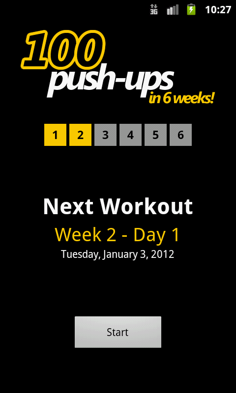 100 Push-ups - screenshot