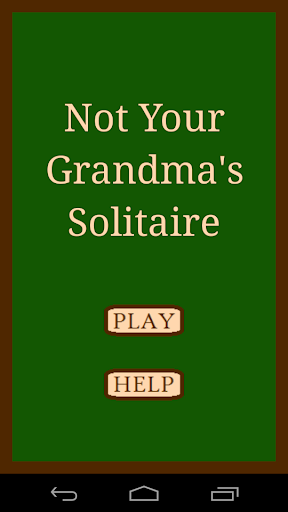 Not Your Grandma's Solitaire