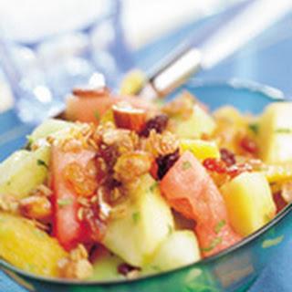 Fruitsalade Met Geroosterde Muesli