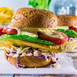 Cornmeal Crusted Tilapia Sandwiches.