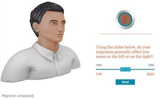 Screenshot of Migraine Compass