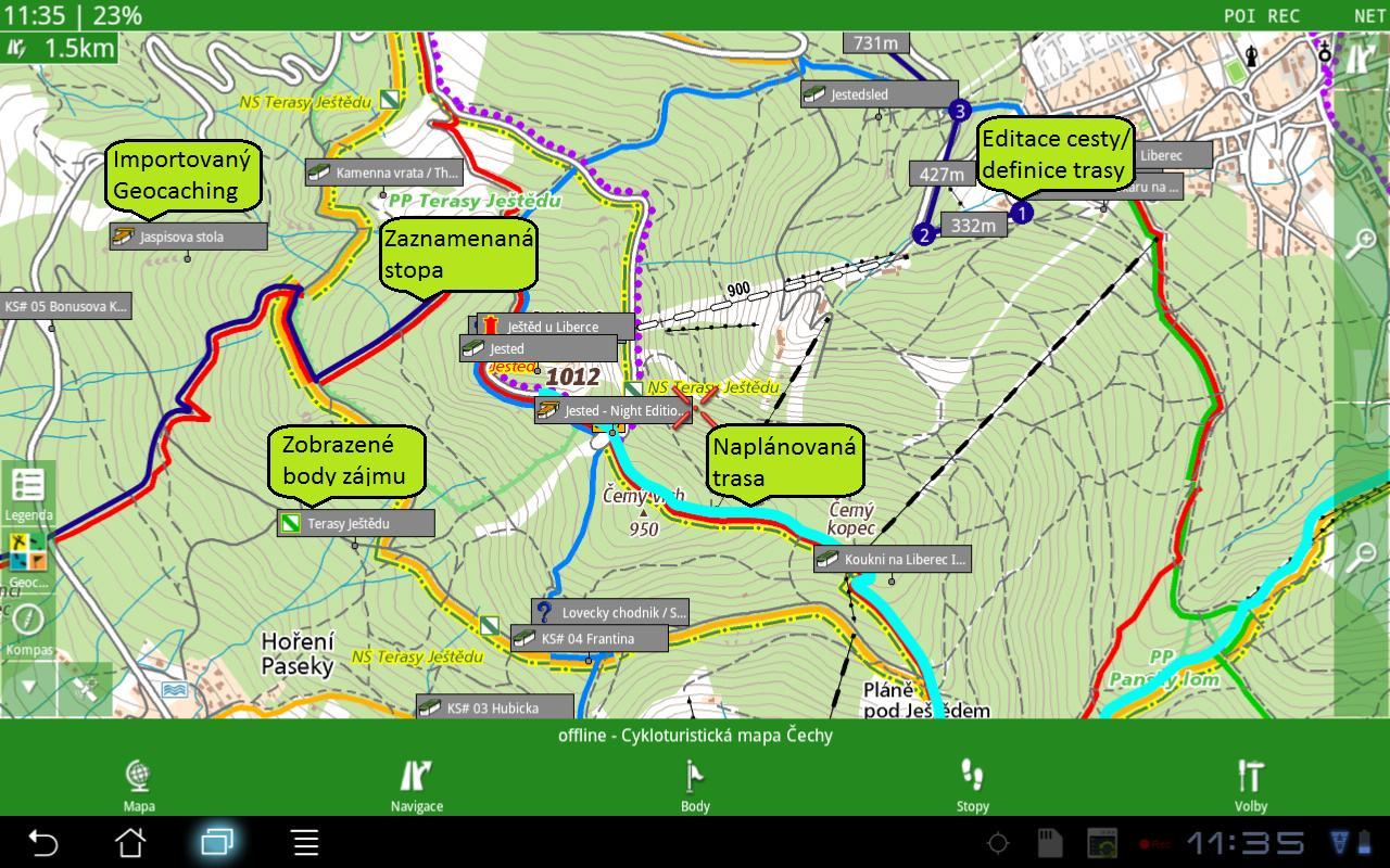 SmartMaps: Edice Vodafone - screenshot