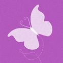Pink Butterfly Keyboard Skin logo
