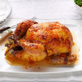 Glazed Roast Chicken.