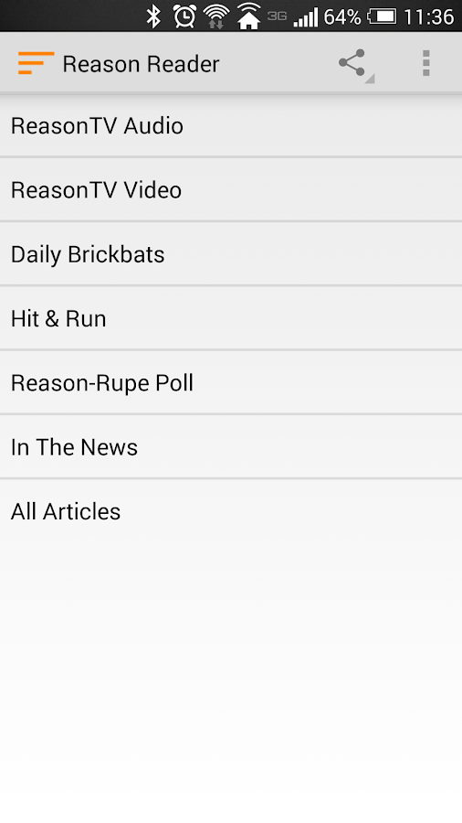 Reason.com Reader- screenshot