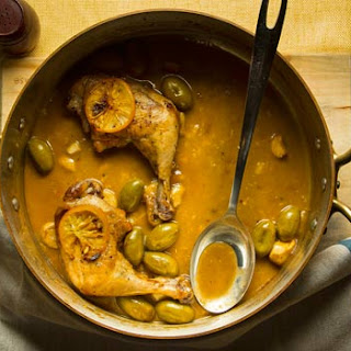 Braised Chicken with Preserved Lemon and Olives