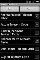 Screenshot of Blacklist - SMS /Call