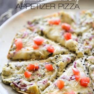 Spinach Artichoke Dip Appetizer Pizza.