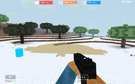 Cube Gun 3D : Winter Craft 1.0 screenshot 44129