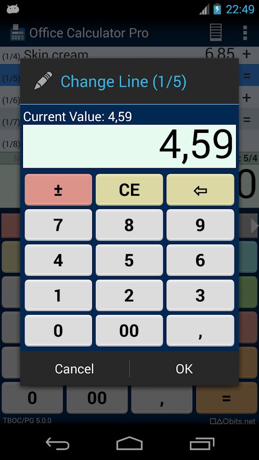 Office Calculator Pro: captura de pantalla
