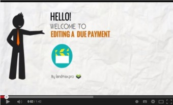 How to edit a due payment
