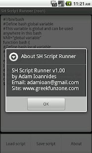 SH Script Runner - screenshot thumbnail
