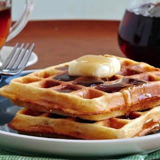 Golden Cornmeal Waffles.