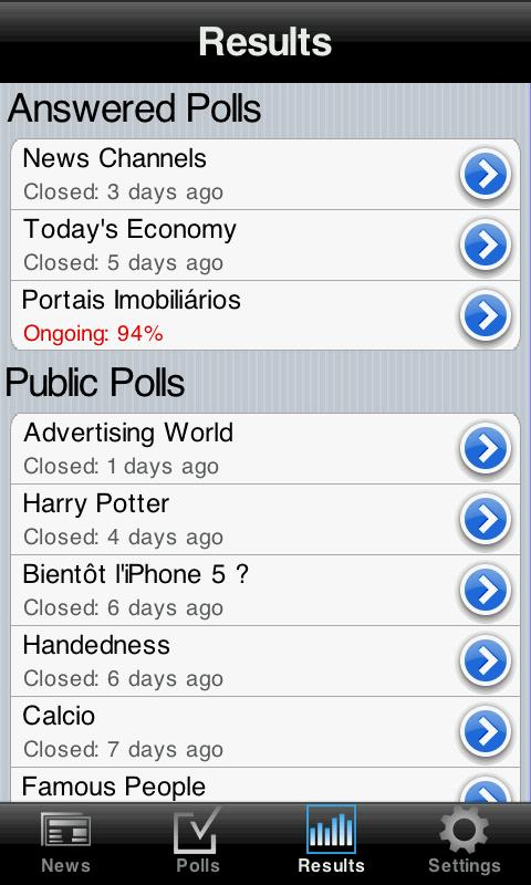 NPolls - screenshot