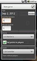 Screenshot of Basketball Score