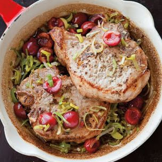 Braised Pork Chops with Cherries