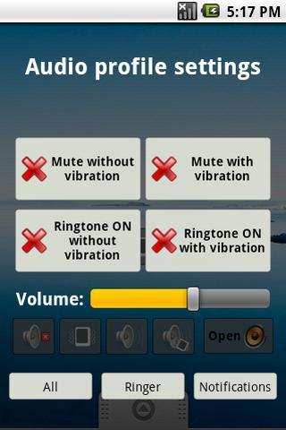 Quick audio settings- screenshot