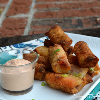 Corned Beef & Cabbage Egg Rolls {with Russian Dressing}.
