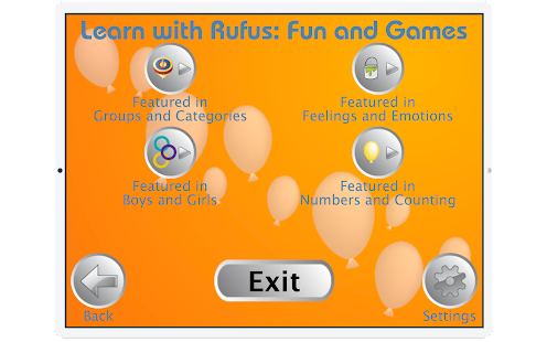 Learn with Rufus: Fun & Games- screenshot thumbnail