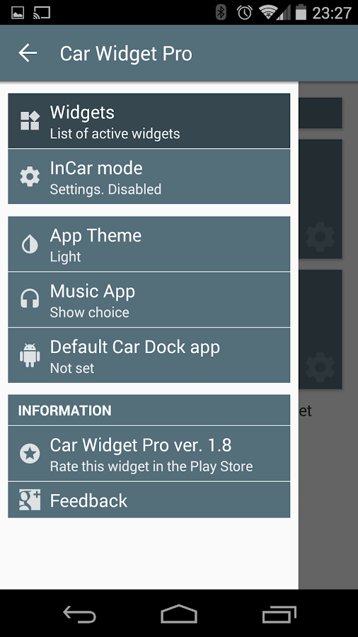 Car Widget - screenshot