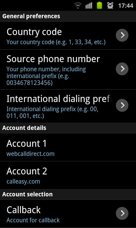 InternetCall- screenshot