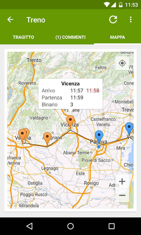 Train Timetable Italy - screenshot
