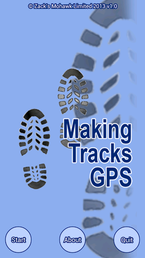 Making Tracks GPS- screenshot