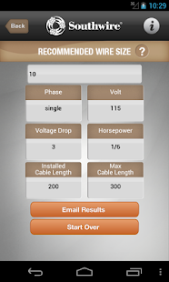 Southwire® Pump Cable Calc- screenshot thumbnail
