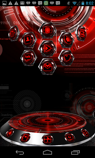 Next Launcher 3D Theme RedKrom