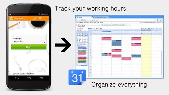 Timesheet Calendar Exporter- screenshot thumbnail