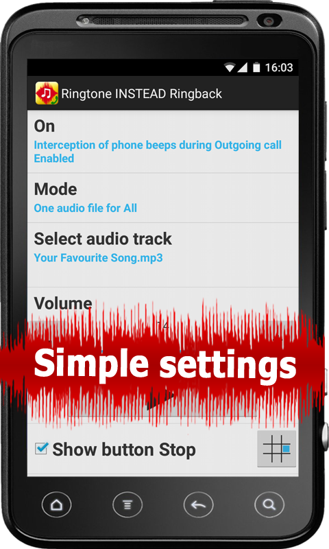 Ringtone INSTEAD Ringback - screenshot