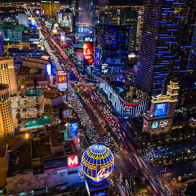 Las Vegas by Ty Yang - City,  Street & Park  Night ( las vegas, , color, colors, landscape, portrait, object, filter forge, Free, Freedom, Inspire, Inspiring, Inspirational, Emotion, city at night, street at night, park at night, nightlife, night life, nighttime in the city )